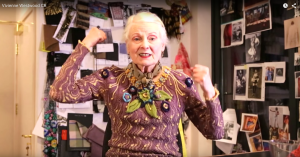 Dame Vivienne Westwood getting heated in her video